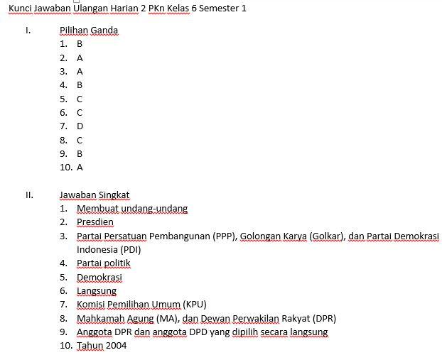 Download Soal & Kunci Jawaban Ulangan Harian 2 Kelas 6 ...