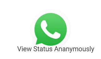 View Status Ananymously