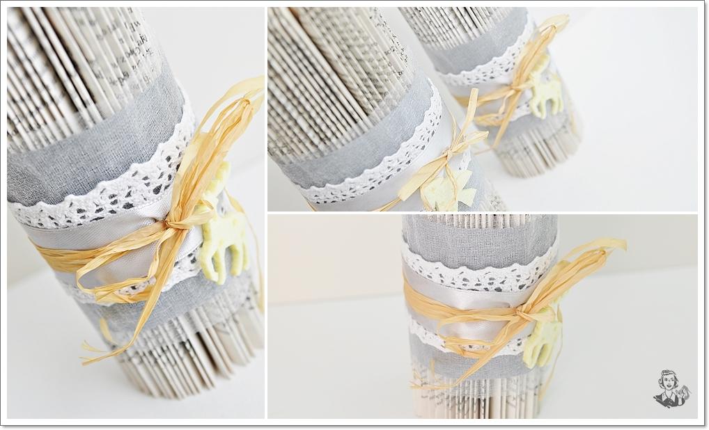 świecznik z papieru