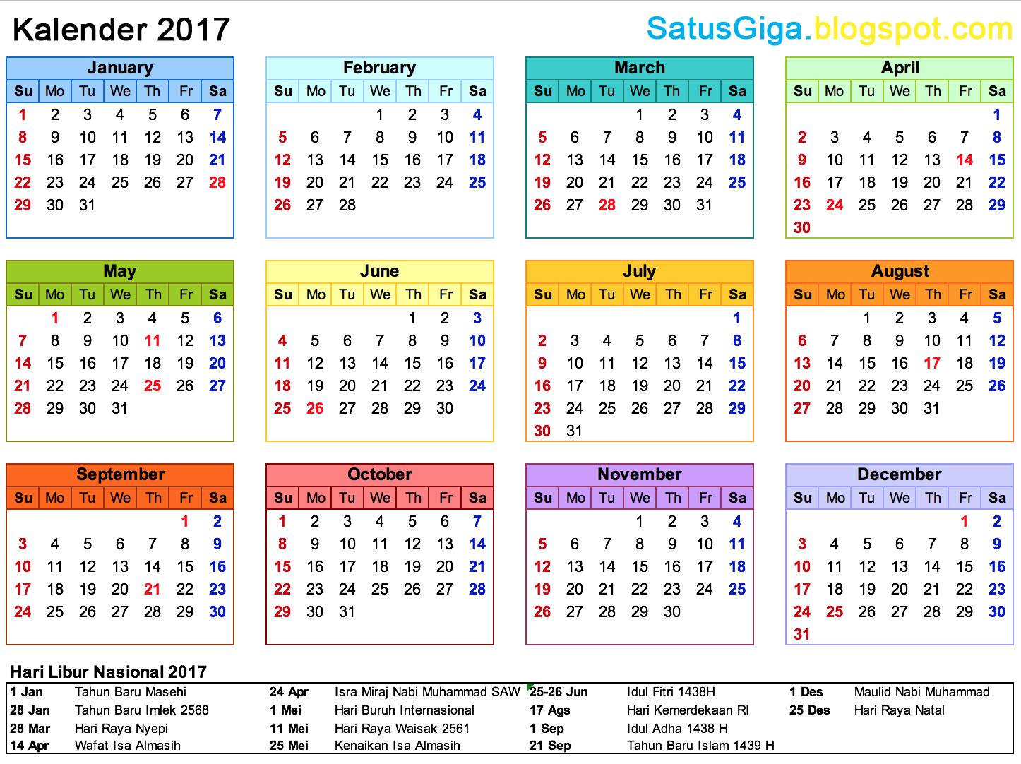 Hari Libur Nasional Di Tahun 2017 Adalah 1 Januari Baru Masehi 28 Imlek 2568 Maret Raya Nyepi 14 April Wafat Isa