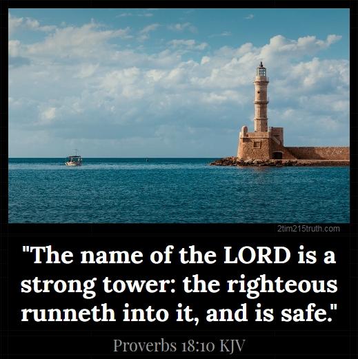 Image result for proverbs 18:10 kjv