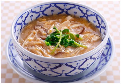 えのきと卵の中華スープ