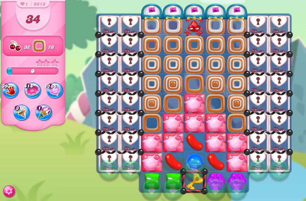 Candy Crush Saga level 9513