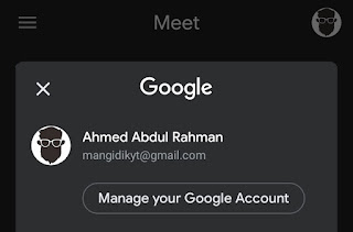 login with google account