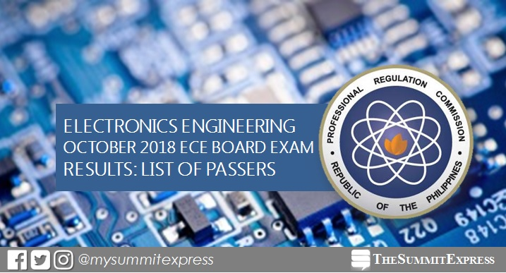 LIST OF PASSERS: October 2018 ECE board exam results