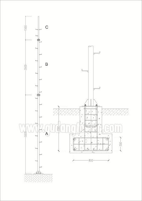 Tower Monopole 10 meter