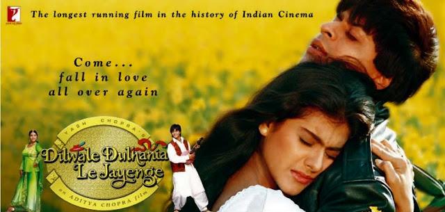 Dilwale Dulhania Le Jayenge (1995) - Shah Rukh Khan and Kajol