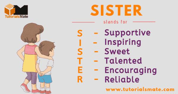Full Form of SISTER