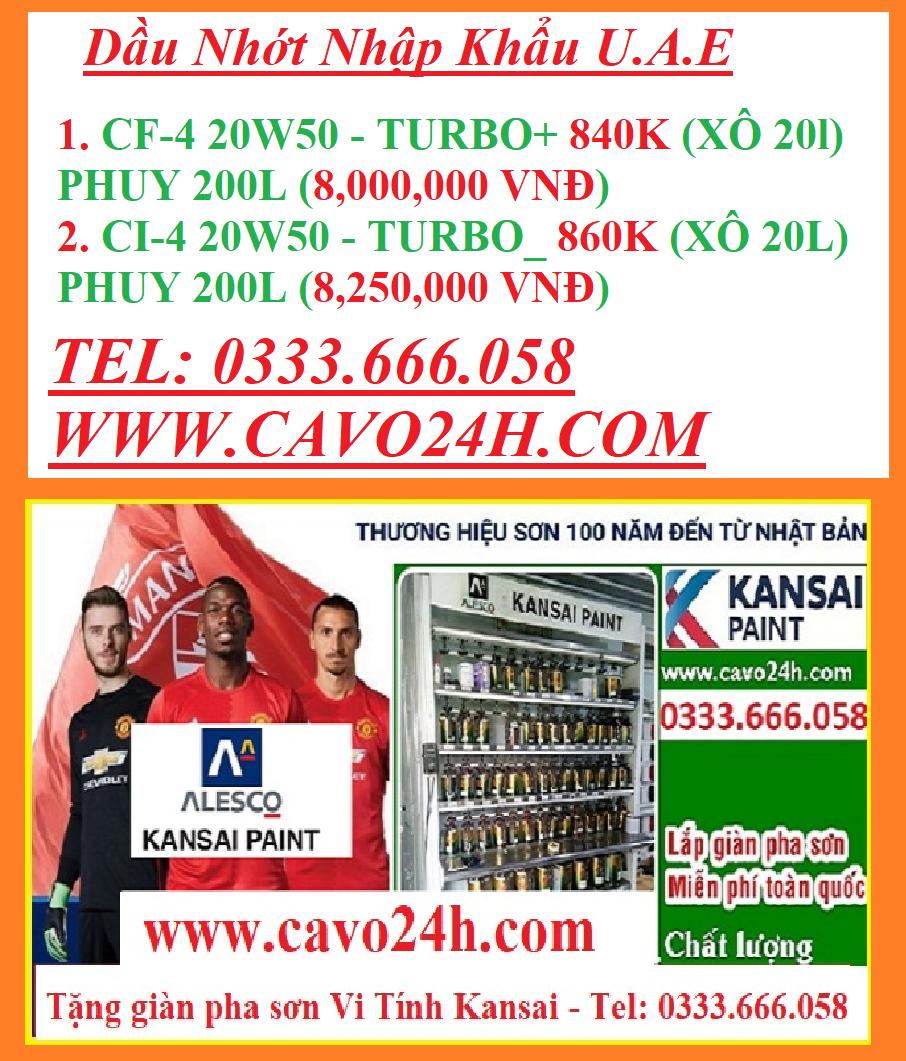 DẦU ĐỘNG CƠ Ô TÔ XĂNG Can 5L API SJ/CF, SAE 20W50 | Dầu Nhớt Oil Tech