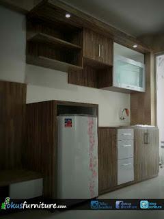 ide kitchenset apartemen bassura baru