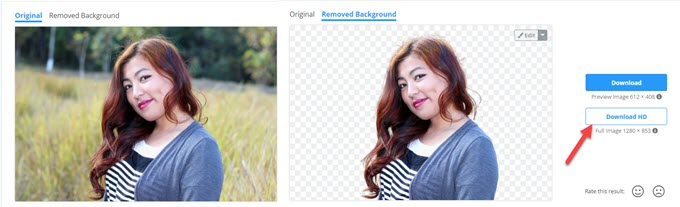 rimuovere lo sfondo dalle foto