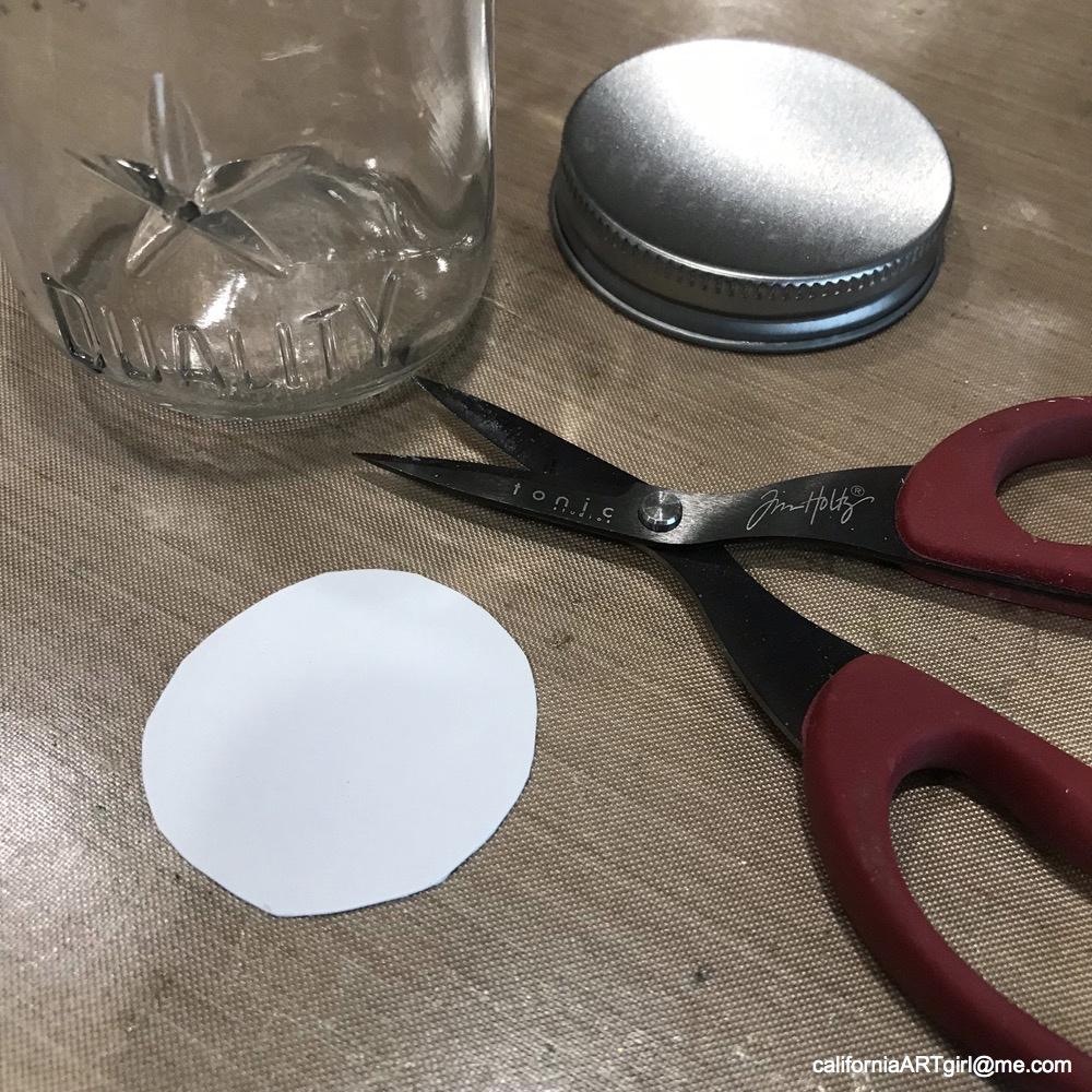 how to cut the bottom off a mason jar