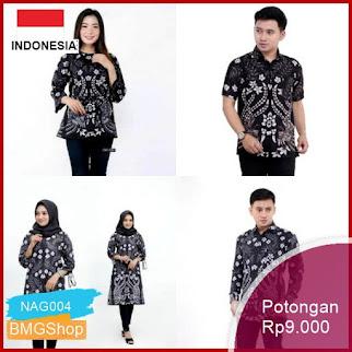 NAG004 Batik Couple Batik Kemeja Pria Sogan Murah Bmgshop