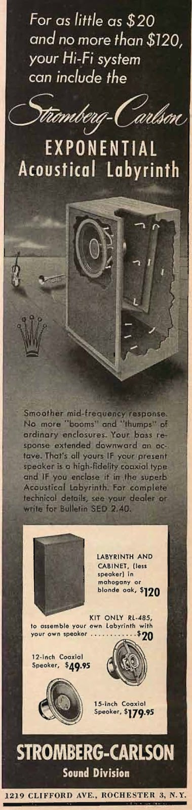Stromberg Carlson - Exponential Acoustical Labyrinth