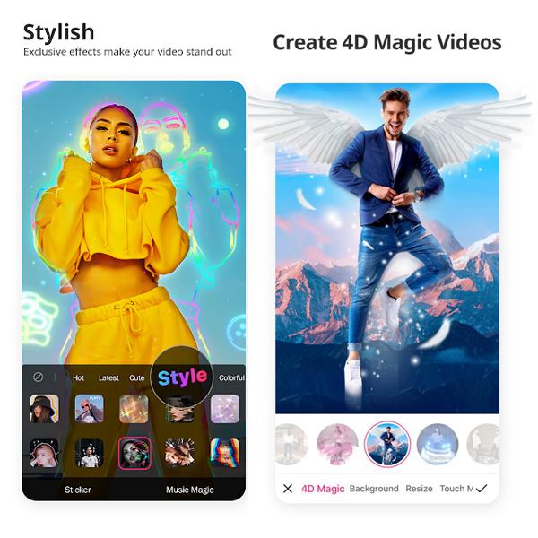 Şık ve 4D Sihirli Videolar Oluşturun