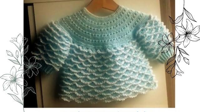 Hermosa Chambrita, Saco o Jersey a Crochet