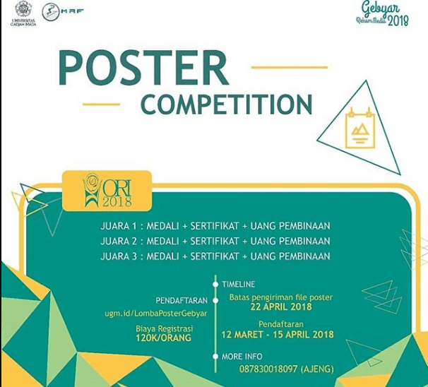 Lomba Poster Competition ORI 2018 UGM