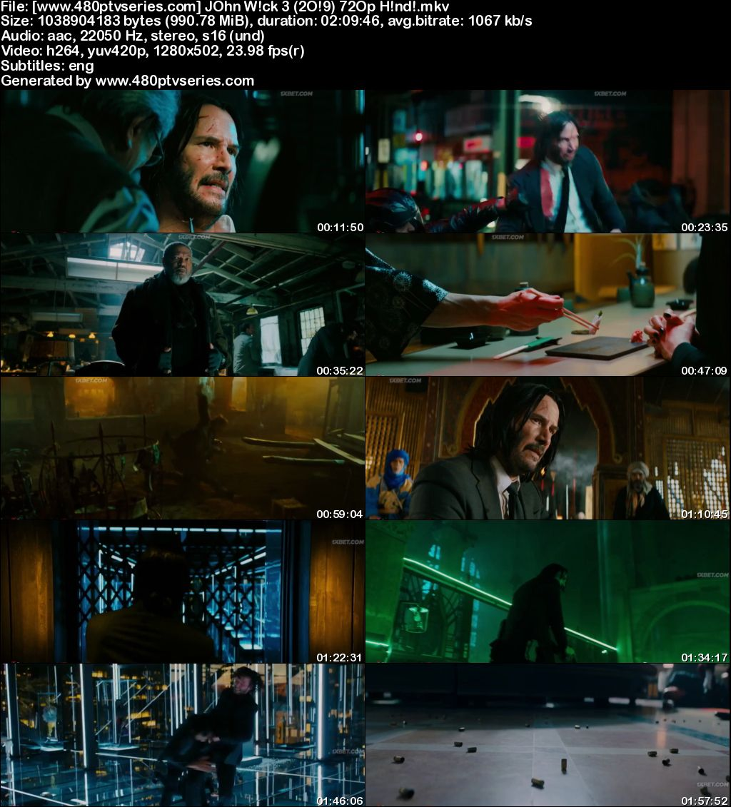 Download John Wick: Chapter 3 - Parabellum (2019) 1GB Full Hindi Dubbed Movie Download 720p Bluray Free Watch Online Full Movie Download Worldfree4u 9xmovies
