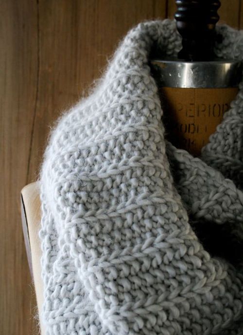 Super Soft Merino Fluted Cowl - Free Pattern