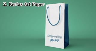 Kertas Art Paper merupakan salah satu jenis kertas untuk membuat paper bag