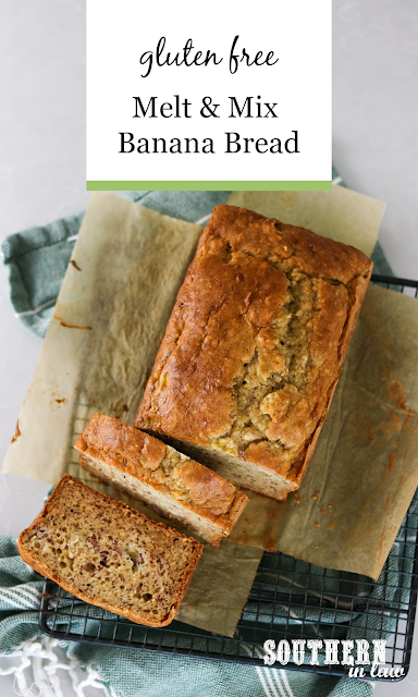 One Bowl Banana Bread Recipe - healthy, low fat, pantry ingredients