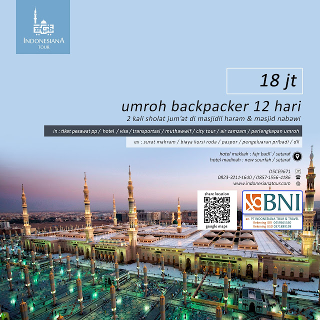 UMROH BACKPACKER 12 HARI