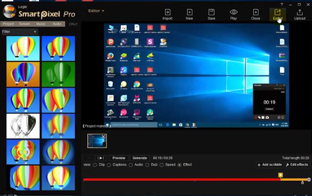 برنامج Smart Pixel لتصوير شاشة الحاسوب والتعديل على الفيديوات وعمل مؤثرات