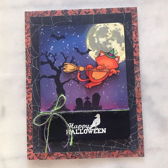 Happy Halloween by Amy T. features Newton's Boo-tiful Night and Spooky Street by Newton's Nook Designs; #newtonsnook