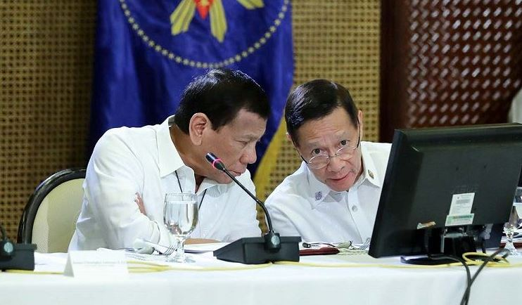 President Rodrigo Duterte and DOH Secretary Francisco Duque III