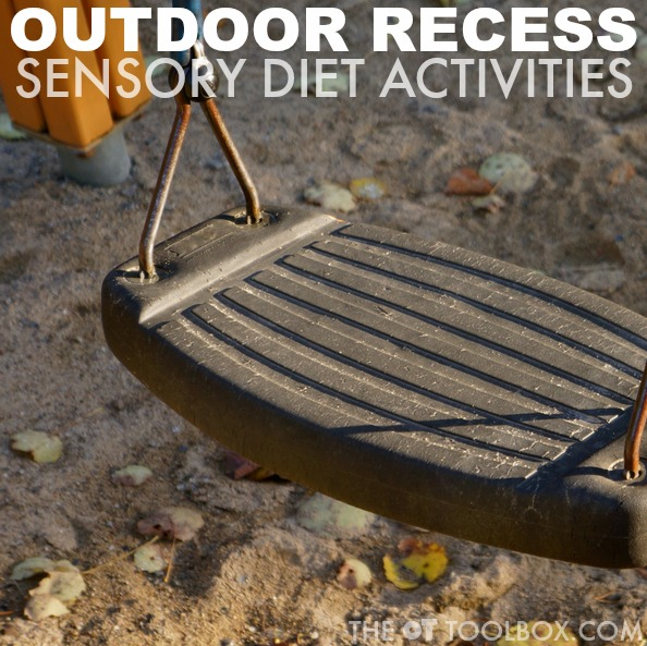 Use these outdoor recess sensory diet activities for kids who need sensory input throughout the school day or crave sensory activities. The sensory diet activities can be used in various settings in the school environment, providing sensory challenges and activities that occupational therapists might recommend.