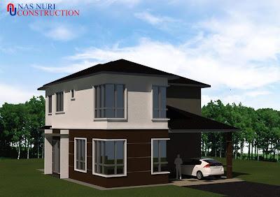Pelan Rumah Banglo 2 Tingkat 4 Bilik Tidur 3 Bilik Air Banglo 2534 Kaki Persegi