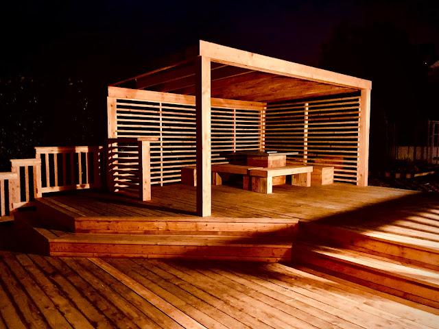 Cedar timber decking
