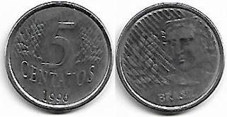 5 centavos, 1996