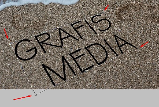 Cara Membuat Efek Teks diatas Pasir Pantai Dengan