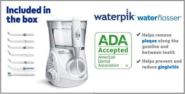 Waterpik Aquarius Water Flosser oral irrigator rated 4.6 by over 45,832 customers - amazon review Oct 2020