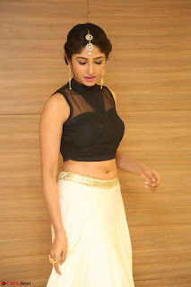 Roshni Prakash in a Sleeveless Crop Top and Long Cream Ethnic Skirt 015.JPG