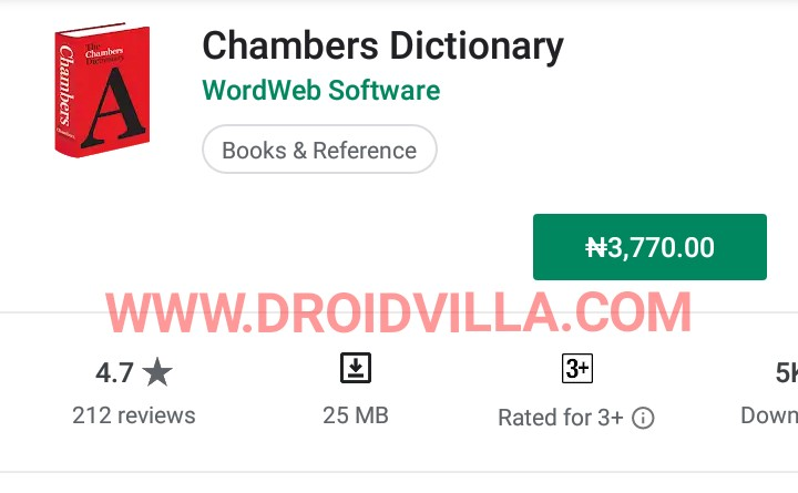 Chambers Dictionary free apk download