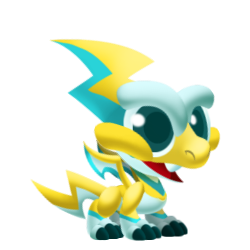 Appearance of Spark Dragon when baby
