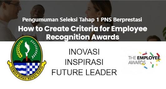 Dilansir dari bahan sosialisasi BKD Provinsi Jawa Barat, seleksi PNS Berprestasi ini sebagai wujud pengakuan dan terimakasih terhadap kontribusi positif PNS  yang bisa membawa kesuksesan baik untuk organisasi dan juga pribadinya ( Carder,1992) yang juga sebagai sebuah  kesuksesan dari hasil kerja keras dan motivasi diri seorang PNS (Grawitsh Gottschalk and David 2006) dengan tiga kategori PNS Berprestasi yaitu PNS yang inovatif, inspiratif dan future leader.