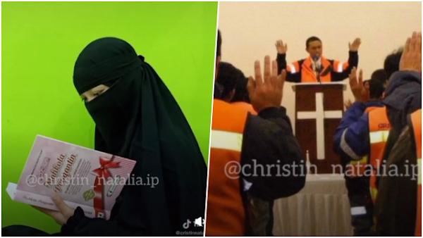 Viral Curhat Muslimah Bercadar Anak dari Seorang Pendeta, Berharap Ayah jadi Imam Sholat