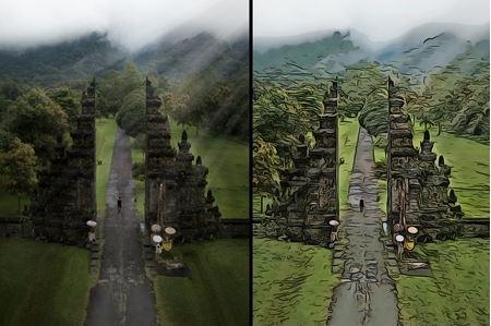 Action photoshop tạo hiệu ứng tranh vẽ
