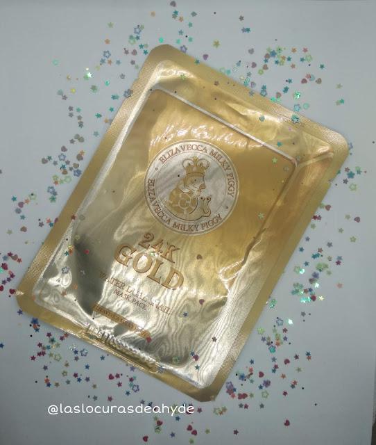 mascarilla hidratante 24k Gold Water Dual Snail de Elizavecca