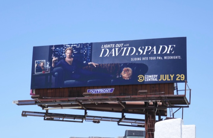 Lights Out David Spade series launch billboard