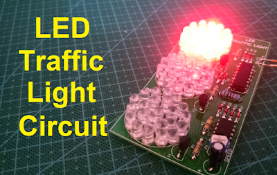 Traffic light using 4017 and 555