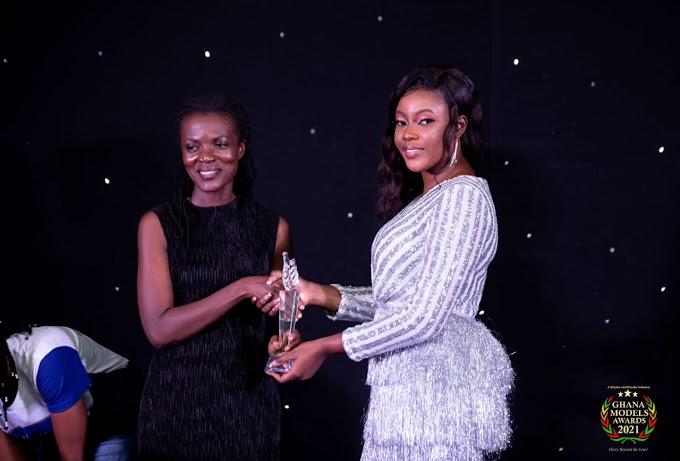 Araba Sey Wins THE 'Flora Community Service Award' at Ghana Models Awards 2021