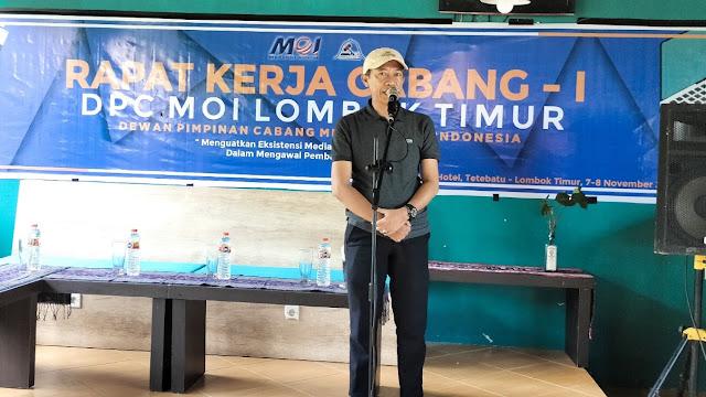 Kuatkan eksistensi media online, DPC MOI Lotim gelar Rakercab perdana