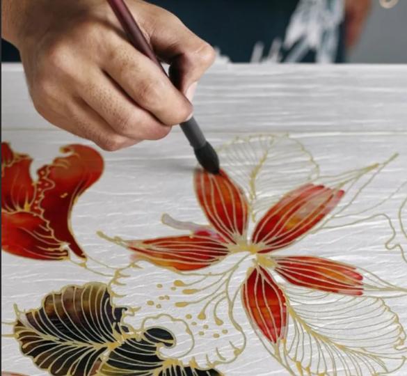 батик техника рисунка по ткани