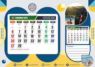 Desain Kalender Meja 2022 CDR