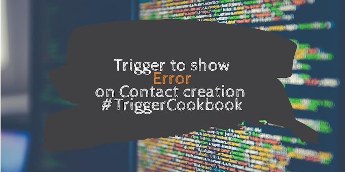Trigger to display an error on Contact creation if the Account has more than 2 contacts