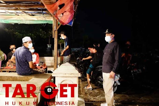 Hari ke 10 PPKM, Bupati Haryanto Kembali Monitoring Lokasi Rawan Kerumunan